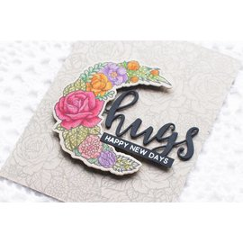 Spellbinders und Rayher Stamp + punching template, roses