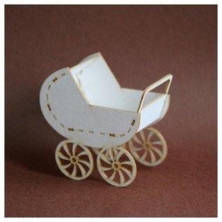 BASTELSETS / CRAFT KITS Chipboards 3D - baby cradle