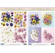 Bilder, 3D Bilder und ausgestanzte Teile usw... 3D-Stanzbogen SET, Blumenmotive