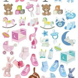 Bilder, 3D Bilder und ausgestanzte Teile usw... NEW! 45 pieces with baby accessories, from 240 g!