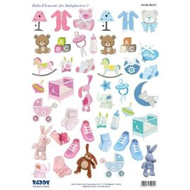Bilder, 3D Bilder und ausgestanzte Teile usw... NEW! 45 pieces with baby accessories, from 240 g!