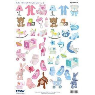 Bilder, 3D Bilder und ausgestanzte Teile usw... NIEUW! 45 stukjes met babyaccessoires, vanaf 240 g!