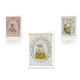 Bilder, 3D Bilder und ausgestanzte Teile usw... Feuille de perforation 3D bébé pour 3 cartes bébé
