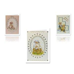 Bilder, 3D Bilder und ausgestanzte Teile usw... 3D-Stanzbogen Baby für 3 Babykarten