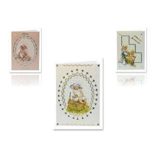 Bilder, 3D Bilder und ausgestanzte Teile usw... 3D stans ark baby til 3 baby kort