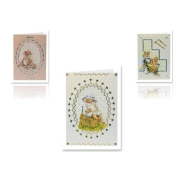 Bilder, 3D Bilder und ausgestanzte Teile usw... 3D stansvel voor babykaarten voor 3 baby's