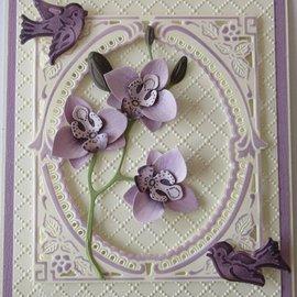 Leane Creatief - Lea'bilities und By Lene modelli di taglio e goffratura: Multi flower, 3D Orchid