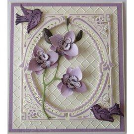 Leane Creatief - Lea'bilities und By Lene kutting og preg maler: Multi blomst, 3D Orchid