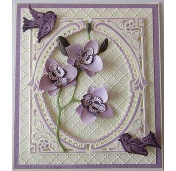 Leane Creatief - Lea'bilities und By Lene Skæring og prægning skabeloner: Multi blomst, 3D Orchid