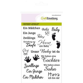 Crealies und CraftEmotions Transparent / Clear Stempel, A6, Baby
