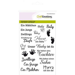 Crealies und CraftEmotions Transparent / Clear stamp, A6, Baby