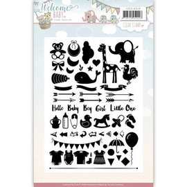 Yvonne Creations Gennemsigtig / Clear stempel, A5, Baby