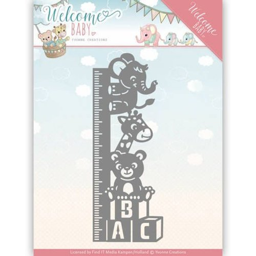 Yvonne Creations cutting and embossing template:  Baby