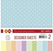 Karten und Scrapbooking Papier, Papier blöcke Designer Sheets Mega set! pastelli