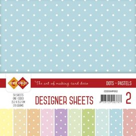 Karten und Scrapbooking Papier, Papier blöcke Designer Sheets Mega set! Pasteles