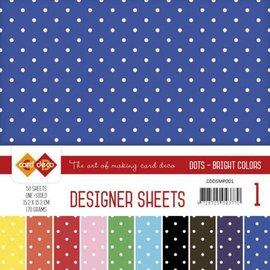 DESIGNER BLÖCKE / DESIGNER PAPER Designerark mega sæt!