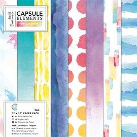 Papier scrapbooking Papermania 36 feuilles 15 x 15 cm El/éments m/étalliques