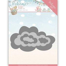 Yvonne Creations Snij  en embossing sjabloon: Wolken