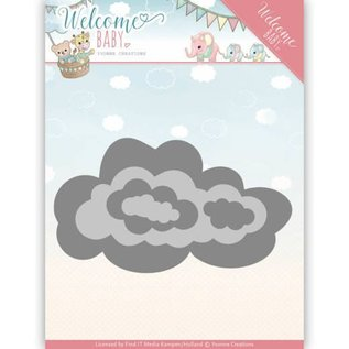 Yvonne Creations cutting and embossing template:  clouds