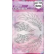 Studio Light Transparent frimærke, format A6: vinger