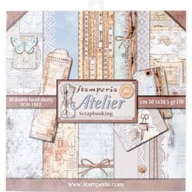 Stamperia NEW! Stamperia: Scrapbooking Paperblock, Atelier, ONLY 2 in stock!