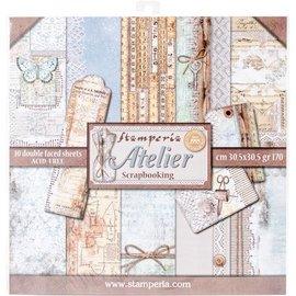 Stamperia NOVO! Stamperia: Paperblock Scrapbooking, Atelier, APENAS 2 em estoque!
