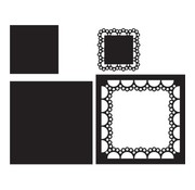 Marianne Design Cutting and embossing template: Passe-partout square,  CR1240