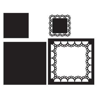 Marianne Design Marianne Design, Stanzschablone: Passe-partout square,  CR1240