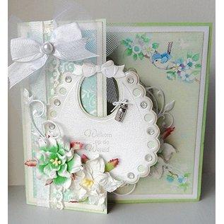 Marianne Design Marianne Design, stansjabloon: Slabbetjes voor baby's - LAATSTE IN Voorraad!