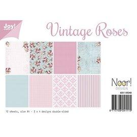 Papel A4 SET, diseño Vintage Roses