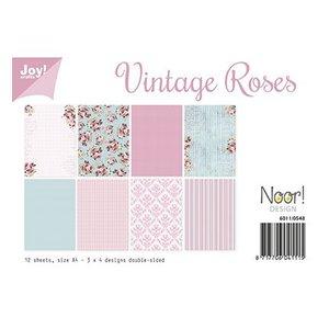 A4-papierset, ontwerp vintage rozen