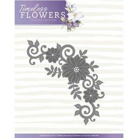 Precious Marieke plantilla de corte y estampado: esquina de flores, tamaño 11,4 x 7 cm