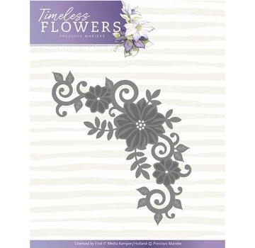 Precious Marieke Stanzschablonen: Blumen Ecke, Formaat ca. 11,4 x 7 cm