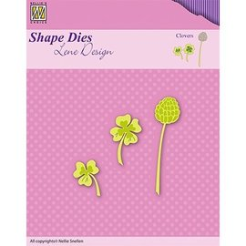 Nellie Snellen Cutting and embossing Template: Clovers