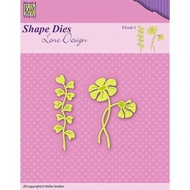 Nellie Snellen Plantilla de corte y estampado: flor