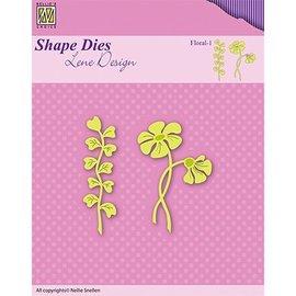 Nellie Snellen snij en emboss mal / Sjabloon: bloemen