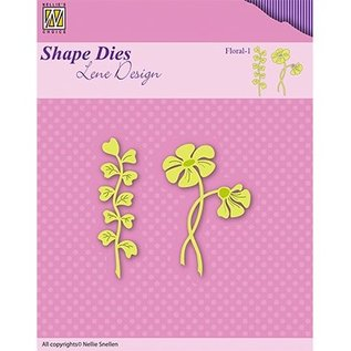 Nellie Snellen Cutting and embossing Template: flower