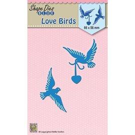 Nellie Snellen snij en emboss mal / Sjabloon:  Love birds