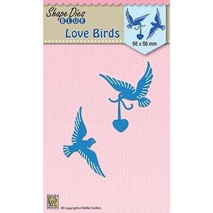 Nellie Snellen Découpe et gaufrage Modèle: Oiseaux d'amour