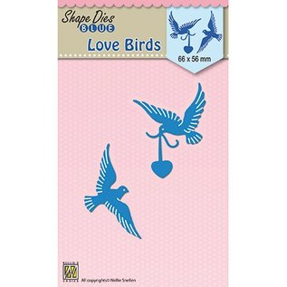 Nellie Snellen Cutting and embossing Template:  Love birds