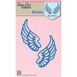 Nellie Snellen Skæring og prægning Skabelon: vinger