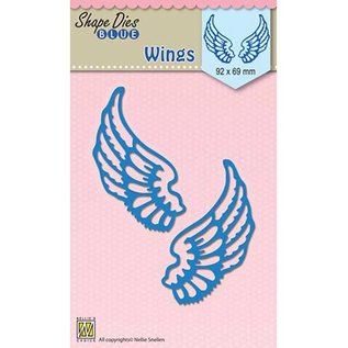 Nellie Snellen Cutting and embossing Template:  wings