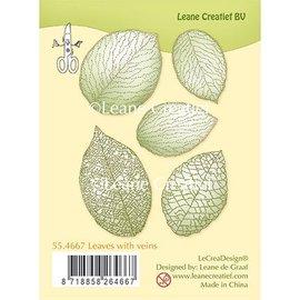 Leane Creatief - Lea'bilities und By Lene Motivstempel, transparent, Blätter