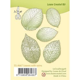 Leane Creatief - Lea'bilities und By Lene Transparent stamp, leaves