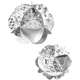 BASTELSETS / CRAFT KITS Weihnachten basteln: Bastelpackung für Luxus Weihnachtsdekoration, basteln mit Papier, Karten gestalten und andere Projekte