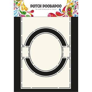 Dutch DooBaDoo A4 plast skabelon: Kort Art Circle