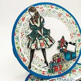 Tonic Timbro di gomma: set di francobolli ragazza