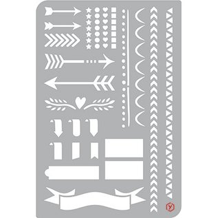 Pronty Bullet Journal Stencil, Zeichen