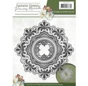 Precious Marieke modello di taglio e goffratura: cornice di fiori rotondi