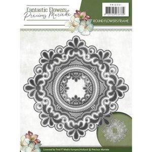 Precious Marieke coupe et gaufrage modèle: Cadre fleurs rondes